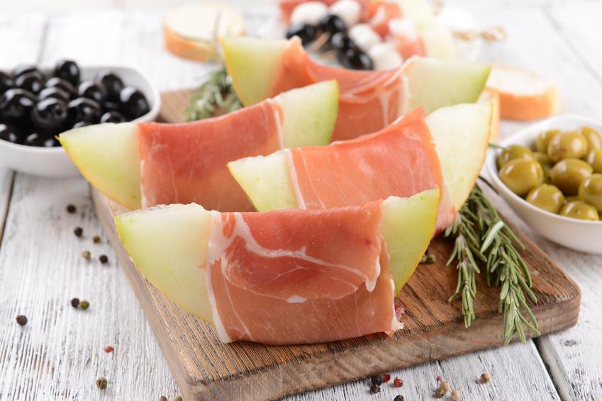 Bad Orber Salinenschinken mit Melone